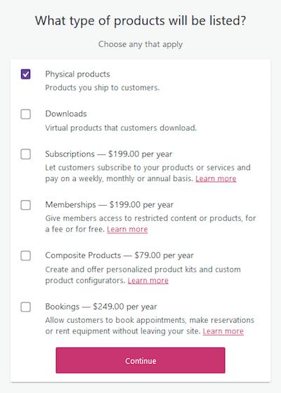 أنواع المنتجات في تثبيت ووكومرس على ووردبريس