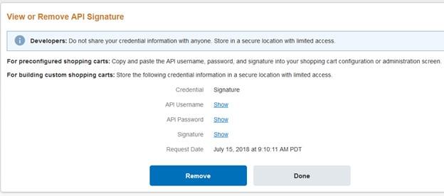 إعداد API للدفع الآمن على باي بال