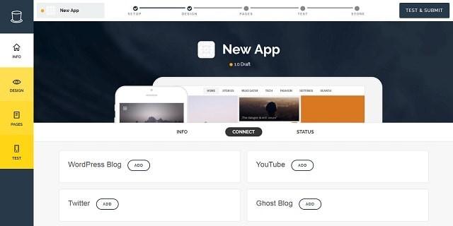 إنشاء تطبيق ووردبريس للجوال appful أداة