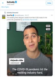 استخدام تويتر للأعمال GoDaddy واعادة تغريد ما نُشر عنهم