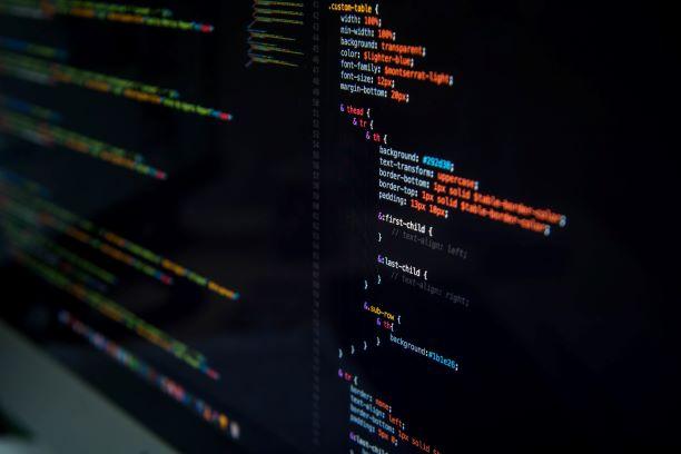 الحوسبة السحابية شاشة كمبيوتر كود