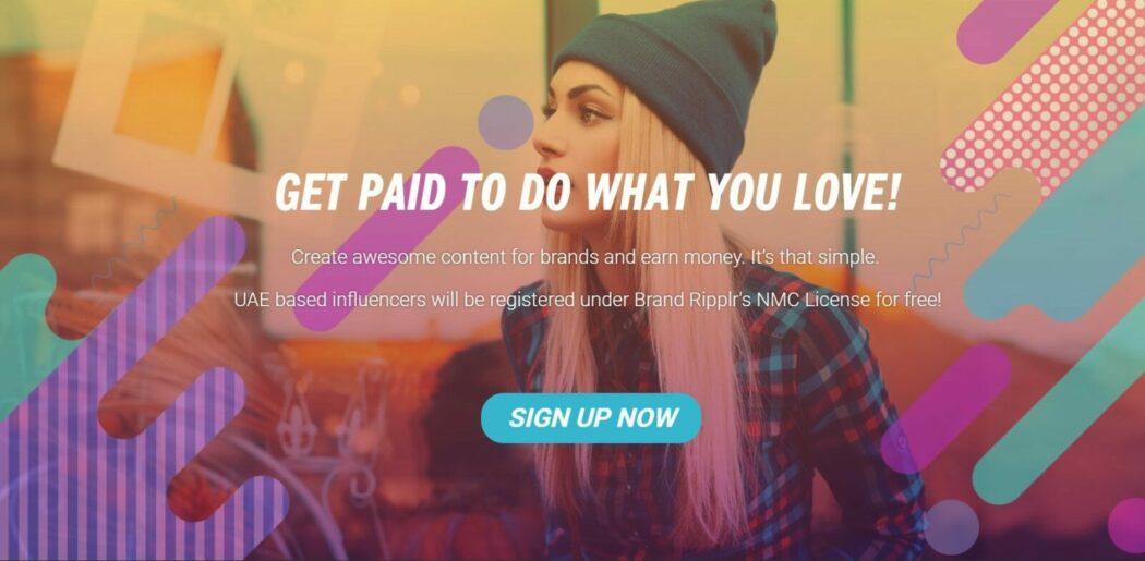 المؤثر التسويق الإنترنت موقع brandripplr