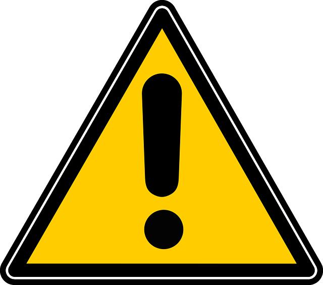 علامة خطر موقع غير آمن