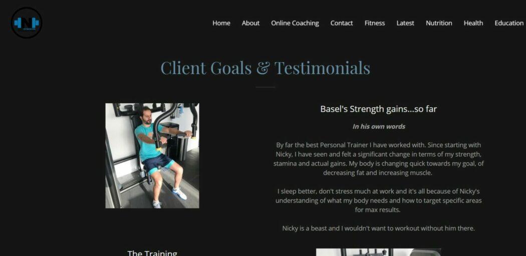 موقع الشركة Nicky fitness