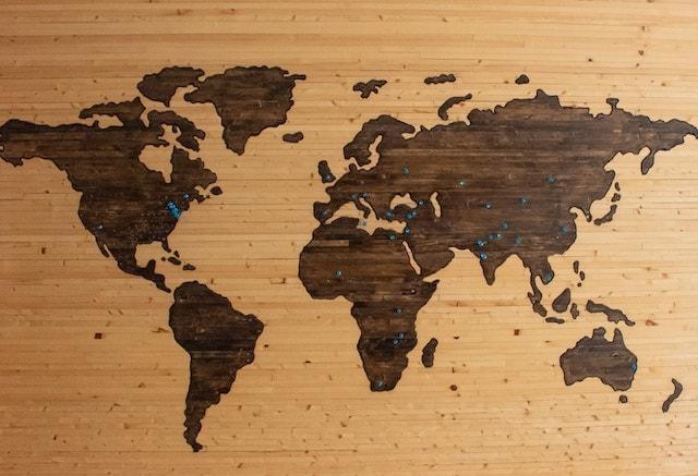 خريطة العالم التسويق الرقمي
