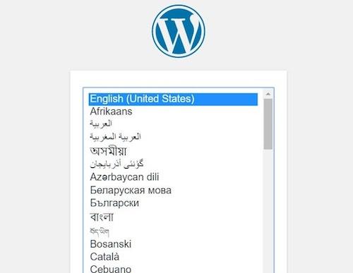 اختيار اللغة في ووردبريس