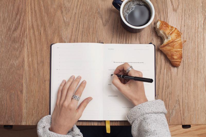 دفتر لكتابة الاعلانات قهوة