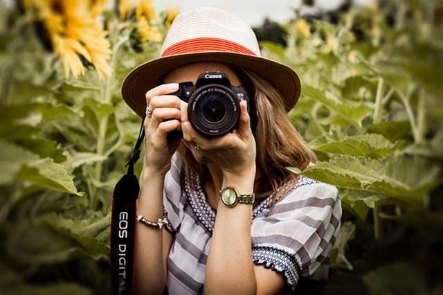 كاميرا كانون مصور أفكار للعمل من المنزل