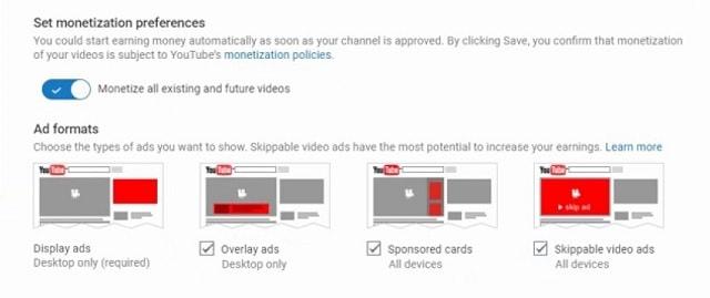 كيف يمكنك الربح من اليوتيوب تفضيلات النقود