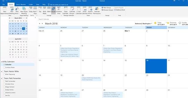 ما هو تقويم مايكروسوفت أوفيس اوت لوك 365